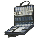 Blank PIC1121 Picnic Carry Case For Four, 600D Two Tone Polyester - Navy