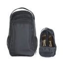Custom SB1081 Black Utility Shoe Bag, Ripstop Nylon/Leatherette - Embroidery