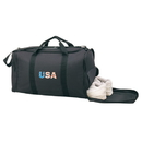 Custom SGB Black Sports Gym Bag with Shoe Storage, 600D Polyester w/ Heavy Vinyl Backing - Embroidery