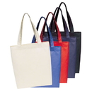 Custom ST1132 Poly Tote Bag, 600D Soft Polyester w/ PU - Embroidery
