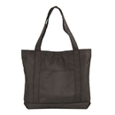Custom ST1206 Black Recycled Tote Bag, 100% Pet Non-Woven Polypropylene Recycled - Embroidery