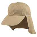 Custom SUNBC Ear Flap Cotton Cap (Washed) - Khaki - Embroidery