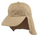 Custom SUNBC Ear Flap Cotton Cap (Washed) - Khaki - Embroidery