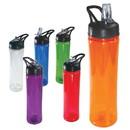 Blank SUNC7011 25 OZ. Plastic Water Bottle with Flip Open Straw