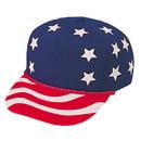 Blank USA-5 Usa Stars & Stripes Cap - Red/White/Blue