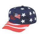 Blank USA-6 Pro Style Usa Stars & Stripes Cap - Red/White/Blue