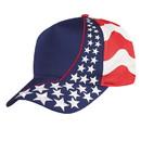 Blank US-FLAG-5 USA Flag Cap, 5 Panel - Red/White/Blue