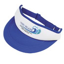 Custom VPC Polyester White Front Visor - Screen Print