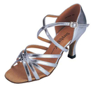 Stephanie Silver leather Dance Shoes - 12017-42