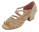 Stephanie Tan Leather / Two Way Strap Dance Shoes - 16003-51X
