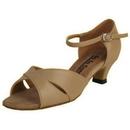 Go Go Dance Shoes, Open Toe, Tan Leather - GO7021