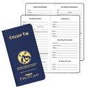 Custom CPJ-11 Critter Pal - Pet Information, Leatherette Covers, 3 1/2 x 6 1/2 inch, Saddle-Stitched