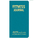 Custom FJ-1A Fitness Journal, Shimmer Covers, 3 1/2 x 6 1/2 inch, Saddle-Stitched