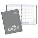 Custom MB-35 Monthly Desk Planners, Frosted Vinyl Covers, 8 1/2 x 11 inch