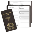 Custom PMJ-13 Personal Medical Journal, Continental Vinyl Covers, 3 1/2 x 6 1/2 inch, Saddle-Stitched