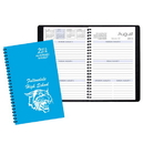 Custom SWB-20 Academic Weekly Planners, Technocolor Academic Weekly Desk, 5 1/2 x 8 1/2 inch, Wire-Bound
