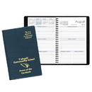 Custom SWB-23 Academic Weekly Planners, Continental Vinyl Academic Weekly Desk, 5 1/2 x 8 1/2 inch, Wire-Bound