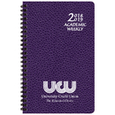 Custom SWB-2C Academic Weekly Planners, Cobblestone Academic Weekly Desk, 5 1/2 x 8 1/2 inch, Wire-Bound