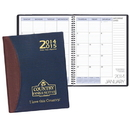 Custom TYP-37 Two Year Desk Planners, Carriage Vinyl Covers, 8 1/2 x 11 inch