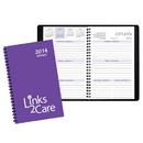 Custom WB-20 Weekly Planners, Technocolor Covers, 5 1/2 x 8 1/2 inch, Wire-Bound