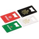 STOPNGO Line Custom Credit Card Powder Coated Bottle Opener, 2 1/8