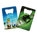 STOPNGO Line Custom White Credit Card 4 Color Process VERSAprint Bottle Opener, 2 1/8