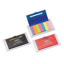 STOPNGO Line Custom Refillable 4 Inch Ruler with Sticky Notes Tabs, 4 1/4