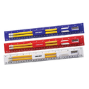 STOPNGO Line Custom 12 Inch Plastic Ruler Stationery Kit with Pencil, Eraser and Sharpener, 12 1/4
