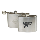 STOPNGO Line Custom Silver 5 oz. Stainless Steel Flask, 3 3/4