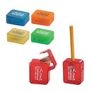 STOPNGO Line Custom Square Pencil Sharpener with Flip-Top Lid, 1 7/16