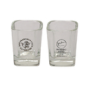 STOPNGO Line Custom Clear Square Shaped 1.5 oz. Shot Glass, 2 3/8