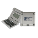 STOPNGO Line Custom Silver Flipper Travel Alarm Clock & Calculator, 3 1/2