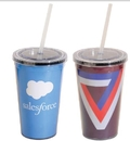 16 Oz. Double Walled Acrylic Tumbler w/4 Color Process Printing (CMYK)