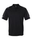 Adidas A76 Golf Climalite 3-Stripes Cuff Polo Shirt