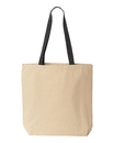 Liberty Bags 8868 Gusseted 10 Ounce Natural Tote with Colored Handle