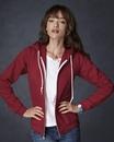 Anvil 71600FL Ladies' Combed Ringspun Fashion Full-Zip Hooded Sweatshirt