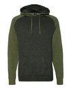 Independent Trading IND40RP Raglan Hooded Pullover