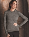 Alo W3101 Ladies' Triblend Long Sleeve Pullover Hooded