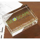 Crystal Rectangle Paperweight Of Crisp And BeveLED Edges