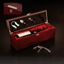 Rosewood Wine Set Including Four Useful Wine Tools