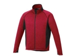18123 (M) Blank Langley Knit Jacket With Centre Front Exposed Contrast Reverse Coil Zipper