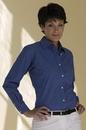 Women's Easy-Care Mini-Check Shirt