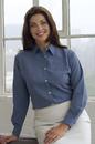 Vantage 1816 Women's Polynosic Houndstooth Shirt - Imprinted