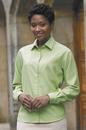 Women's Polynosic Fine-Line Stripe Shirt - Imprinted