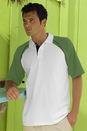 Raglan Color-Blocked Jersey Polo - Imprinted