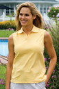 Women's Sleeveless Stretch Pique Polo