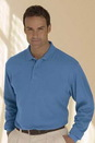 Solid Textured Long Sleeve Polo