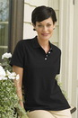 100% Combed Cotton Women's Elite Pique Polo
