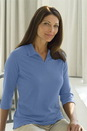 Women's Pima Blend 3/4-Sleeve Polo