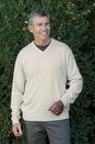 100% Organic Cotton V-Neck Sweater